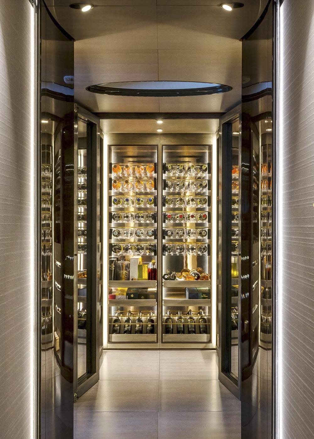 luxury yachting wine suite