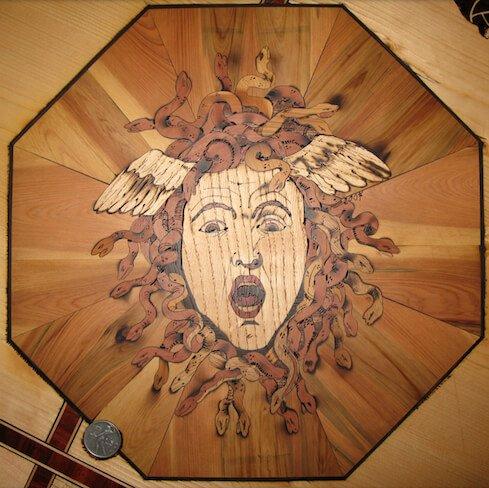 disegno intarsi legno massello