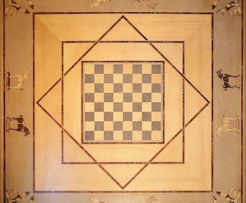 intarsio geometrico legno