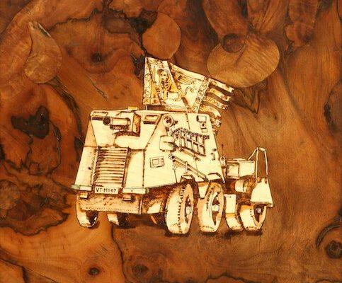 intarsio in legno fantasia
