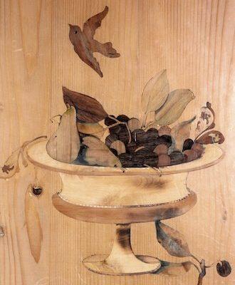 intarsio in legno disegno natura morta